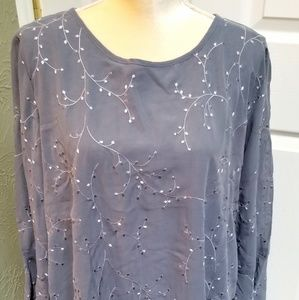 Krazy Kat NWT long sleeve blouse, size XL